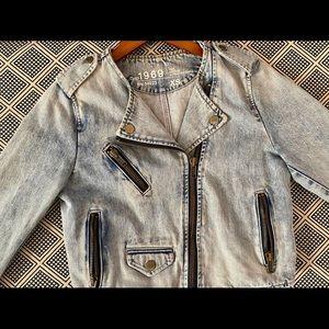 Gap 1969 Denim Moto Jacket. XS.